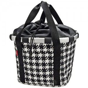 KLICKfix Bike Basket Fifties Black