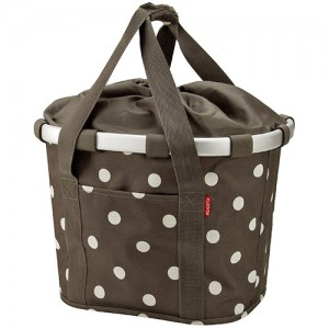 KLICKfix Bike Basket Mocha Dots